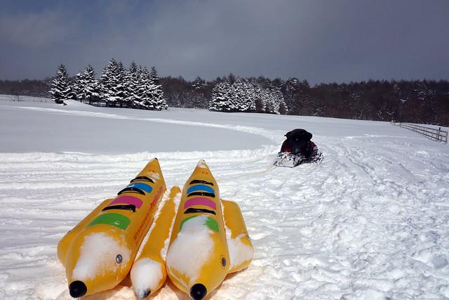 さて、いよいよ雪バナナボートの出発です。|キープファームショップ