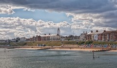 Southwold (Brian Brooks Photos) Tags: sea lighthouse beach landscape suffolk nikon southwold beachhuts 2012 d90