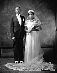 Mr and Mrs O Mease of Washington DC, 1930 (vieilles_annonces) Tags: washingtondc thirties 1930s 30s 1930 blackweddings scurlockphotography blackwashingtonians mrandmrsomease