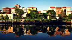 Venetian Isle (JC Shamrock) Tags: reflection water architecture reflex dock colorful florida naples venetian condos isle warmtones npl italianarchitecture swfl parkshore venetianbay