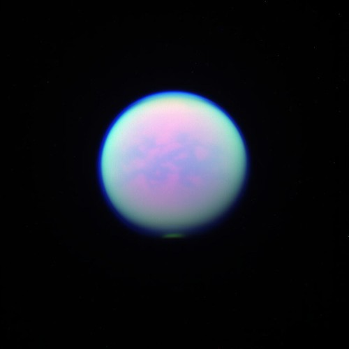 Titan as seen through 3 different filters