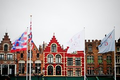 buildings & flags (ekelly80) Tags: red colors buildings square belgium market brugge flags bruges grotemarkt marketsquare may2013