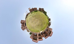A small planet I live on..:) (VikramDeep) Tags: panorama india sunday 360x180 stereographic haryana weeplanet