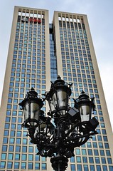 Old & New (nbcmeissner) Tags: germany deutschland hessen skyscrapers frankfurt frankfurtmain nationalgeographic ubs opernplatz vintagestreetlights nikond7000 uploaded:by=flickrmobile flickriosapp:filter=nofilter