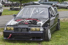 Rich's E36 Drift Car (CJ_Inguagiato) Tags: park new people 3 grass wheel race sedan person nikon budget low wheels nj competition tire racing tires jersey bmw series parked m3 races tamron 70200 comp zipties raceway englishtown 3series competitive e36 d300