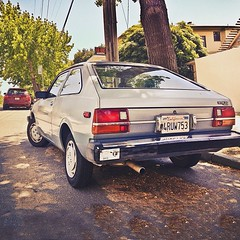 Dat Sun! (Peter Alfred Hess) Tags: street car square berkeley nissan rear squareformat spruce pulsar datsun hatchback fastback 2door datsun310 iphoneography instagramapp uploaded:by=instagram foursquare:venue=4ba5745df964a520c80839e3