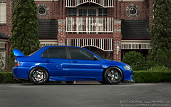 Mitsubishi Evo 9 'VI' (Mitch Hemming) Tags: mitch evolution turbo ssr mitsubishi jap jdm evo widebody hemming thelowdown zomaya mhemming prodjectmu