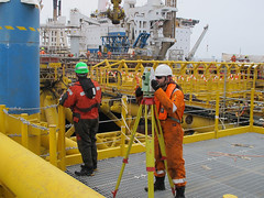 Andrzej and total station (thulobaba) Tags: industry norway construction energy offshore platform engineering gas jacket northsea oil eldfisk