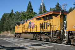 Union Pacific #7746 (GE ES44AC) in Colfax, CA (CaliforniaRailfan101 Photography) Tags: up amtrak unionpacific priority ge freight bnsf reefer manifest emd californiazephyr burlingtonnorthernsantafe dash9 dpu es44dc gevo sd70m amtk c449w stacktrain sd70ace es44ac colfaxca c45accte p42dc trackagerights es44c4 tietrain sd59mx unitreefer zdlsk trainsincolfaxca