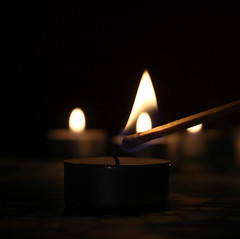 Candle light (be.ata) Tags: light dark candle sad kerze match streichholz finster traurig