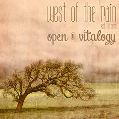 West of The Rain is Open (Nodnol Jameson | KraftWork) Tags: unitedstatesofamerica oak tree cloud clouds cloudscape overcast nature background backgrounds paper golden orange green brown yellow sky texture textured vintage old aged dirty grunge grungy painterly painting mottled rough coarse canvas solitary one single solitarytree idyllic dream dreamscape tranquil peaceful zen zenlike art artistic stylised tinted toned landscape scenic romantic nobody retro revival card postcard distressed wrinkled creased damaged stain stains stained discolored worn california