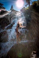 20160625-Sun Falls --4 (napaeye) Tags: lake tahoe napaeye laketahoe waterfalls fallenleaflake lillylake california ca women hairflip