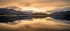Nullarbor Tones (ajecaldwell11) Tags: longexposure golden glendhu newzealand sunset wanaka nationalpark reflection mountains sky snow water clouds light dusk