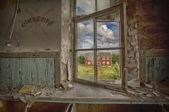 overture (FanFan Babii or just plain Buffan) Tags: abandoned decay beautifuldecay forgotten bricks urbex rurex school houses building summer window