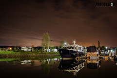 Swebsange, Luxembourg (Fbio_Simes) Tags: clouds night nuvens noite camping swebsange mouselle luxemburgo luxembourg rio river boat barco vermelho