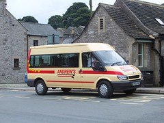 Andrews YP05YWB Tideswell (Guy Arab UF) Tags: andrews tideswell yp05ywb ford transit minibus fountain square derbyshire independents buses