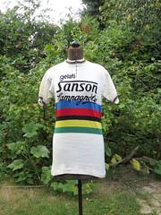 Sanson Campagnolo World Champion - Moser 1977 (akimbo71) Tags: maglia maillot jersey fahrradtrikot cycling cyclisme proteam equipe