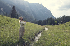 mountain yelling (Anders Hviid) Tags: wendy mountain nature creek italy dolomites