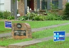 Aw shucks, it's only politics ... (Jer*ry) Tags: sign presidential campaign candidate republican democrat neighbor resident nextdoor huntsville trump clinton