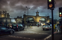 London, King's Cross (Luc Mercelis) Tags: london lowlight clouds cars kingscross sonyslt77v minolltaprimelens20mm minoltaprimelens50mm minoltaprimelens24mm primelens lightroom textureeffects