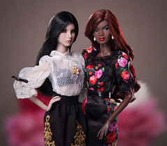 D&G (BlackBastet) Tags: fashionroyalty fashion doll agnes weiss agnesvonweiss nadja rhymes outofsight ooak africanamerican