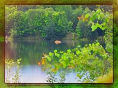 nikon_d90_nikkor_18_105_vr_20.08.16_01 (malemonada) Tags: raft dinghy lake water summer green tree forest photoborder wood