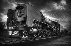 Janice (Uncle Berty) Tags: janice steam train engine locomotive south african railway museum quainton bucks buckinghamshire aylesbury a41 tracks bw hdr tonemapped triple multiple exposure raw aeb conversion black white bnw clouds sky