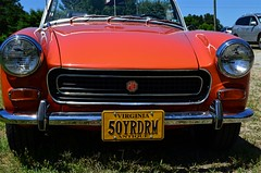 50YRDRM (pjpink) Tags: mg midget vintage vehicle automobile convertible fun sporty orange 50yrdrm car southcentral chasecity virginia june 2016 summer pjpink