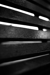 Out There (ergw photography) Tags: abstract slats wood painted blackandwhite bw monochrome bars closeup support shapes pattern patterned wooden stained perspective parallel venetian london