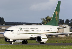 Saudi Ministry of Finance 737-700(BBJ) HZ-MF1 (birrlad) Tags: shannon snn international airport ireland aircraft aviation airplane airplanes taxi taxiway takeoff departing departure runway vip bizjet private passenger jet boeing b737 737 737700 7377fg bbj government state saudiministryoffinance saudiarabia jeddah jfk