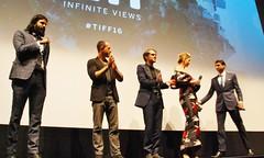 "Q&A, ""Barry"" World Premiere (larry-411) Tags: tiff film festival filmfestival toronto torontofilmfestival ryerson barry vikramgandhi ellarcoltrane jennaelfman"