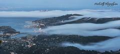 Fingers of Fog Creeping into the North Bay... (markarlilly) Tags: mounttamalpais mounttam tamalpais marincounty sanfrancisco millvalley baybridge sausalito bayarea california highway101 fog karl nikon nikon200mm
