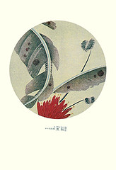 Scarlet banana (Japanese Flower and Bird Art) Tags: flower scarlet banana musa coccinea musaceae jakuchu ito ukiyo woodblock picture book japan japanese art readercollection