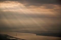 Humber Bridge (paul indigo) Tags: humberbridge humberestuary paulindigo aerial clouds river sky storm sunlight sunset travel