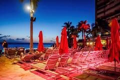 Overlooking Waikiki - Deck chairs (Victor Wong (sfe-co2)) Tags: ocean beach water shore sea outdoor sky seascape landscape seaside deck chair waikiki honolulu hawaii usa sunset waterfront sheraton hotel relaxation man people