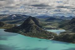 Lake Gjende, Norway (Karol Majewski) Tags: norway norge norwegia scandinavia landscape nature jotunheimen krajobraz mountains gry lake jezioro gjende besseggen ridge water woda clouds chmury vg oppland gjendesheim