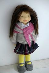 NINA 20inch doll (Dearlittledoll) Tags: waldorf waldorfdoll waldorfdoll18inch dearlittledoll steinerdoll toys organicdoll puppet montessori mohairhair handmadedoll