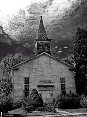 Old Country Church (Dr. M.) Tags: church rural abandoned sky nikon d7000 decay broken dilapidated