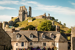 Corfe Castle and The Greyhound (Keith in Exeter) Tags: corfe castle ruins publichouse thegreyhound stone slate roof village dorset england outdoor tourism nationaltrust architecture building hill mound historical medieval