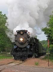 Eastbound on HESR (GLC 392) Tags: pm pere marquette railroad railway train 1225 lima berkshire steam engine corunna mi michigan rail america special 284