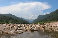 Absolute Calmness (ainulislam) Tags: mountain water stone flow sky cloud skyview blue white green nature landscape bangladesh sylhet bisanakandi bisnakandi bichanakandi