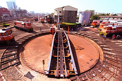 Train Turntable (Ming_Young) Tags: roundhouse train changhua taiwan       600d railroad railway trainturntable