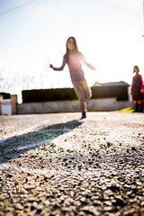 Street Scenes : Hopscotch - Marelle (virginiefort) Tags: street light sun game children soleil nikon lumire hopscotch rue enfant streetscenes jeu pleinair marelle flickrfriday d3200