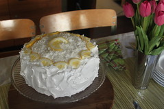 lemon coconut layer cake with cream cheese filling (square one studio) Tags: easter spring lemon tulips coconut layercake emerillagasse