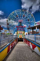 Coney (Slapz NYC) Tags: cloud clouds coneyisland island ride ferriswheel amusementpark rides coney hdr wonderwheel
