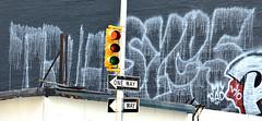 Graffiti In Lower Manhattan. Sye 5. My Bad. W/O. (Allan Ludwig) Tags: graffiti wo lowermanhattan mybad sye5