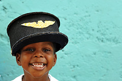 DMA-Roseau-0906-0865-v1 (anthonyasael) Tags: unicef school boy portrait people black boys smile hat smiling horizontal kids america children fun happy kid clothing marine child african happiness portraiture disguise caribbean schoolchildren amused dominica roseau westindies socialcenter caribbeanislands topb lesserantilles childrenonly anthonyasael schoolagechild unicefprogram