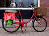 Fiets (Akbar Sim) Tags: red holland green bicycle basket guitar nederland denhaag fiets panniers monark clarijs akbarsimonse akbarsim cyclebags