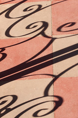 Shadow play (edwindejongh) Tags: fence iron curly tiles granada nicaragua shadowplay tegel tegels schaduwen krullen earty schaduwspel aardekleuren aardetinten gierijzer