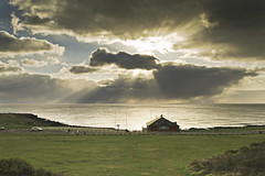On the approach (Tim Bow Photography) Tags: winter sky cloud sunlight storm grass clouds landscape golden skies streak dramatic stormy bluesky british welsh channel darkclouds porthcawl svenska overpowering sunstreaks welshphotographer restbayporthcawl timboss81 timbowphotography
